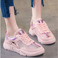 Mesh Panel Cut Out Sneakers